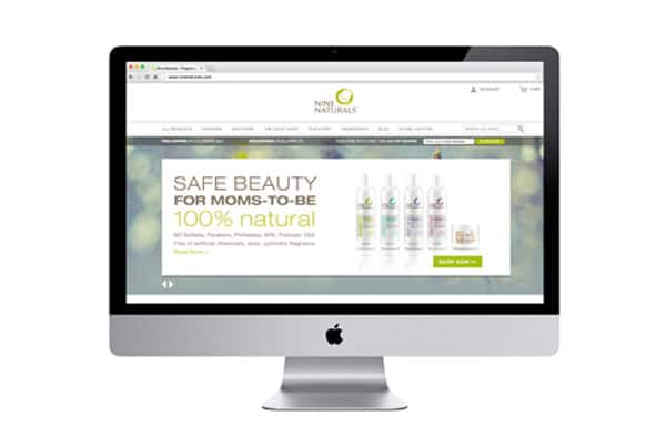 Website Design, Nine Naturals e-commerce site by nature & nurture creative