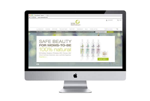 Website Design, Nine Naturals e-commerce site by nature & nurture creative