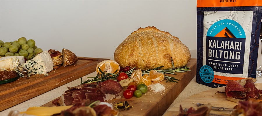 Biltong package design and lifestlye photoshoot - apetizer plate