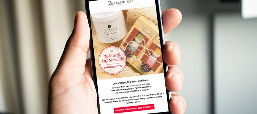 responsive nurturing email campaigns baudelaire soaps