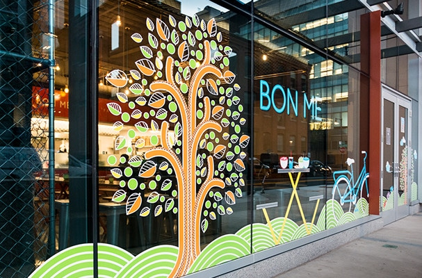 environmental graphics for bon me in boston mass